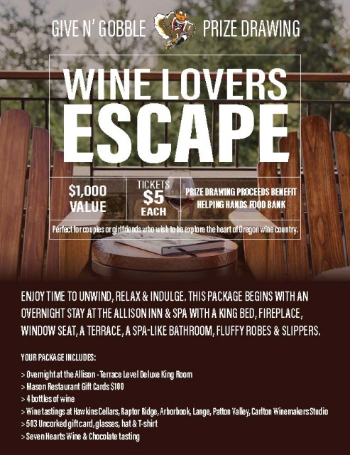 Wine Lover's Escape Package | Allison Inn & Spa + Food